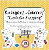 "Speech/Language Category Vocabulary Activity - ""Let's Go Shopping!"""