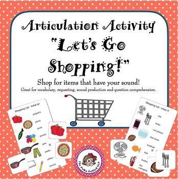Let's Go Shopping for Speech Sounds!
