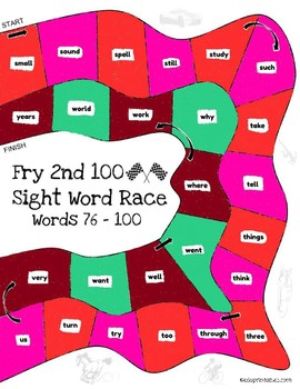 Let's Go! Sight Word Race - 2nd 100 Fry Sight Words