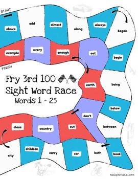 Let's Go! Sight Word Race - 3rd 100 Fry Sight Words