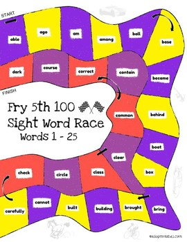 Let's Go! Sight Word Race - 5th 100 Fry Sight Words