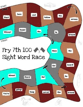 Let's Go! Sight Word Race - 7th 100 Fry Sight Words