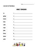 Let's Go To The Moon - Journeys 1st Grade- ABC Order