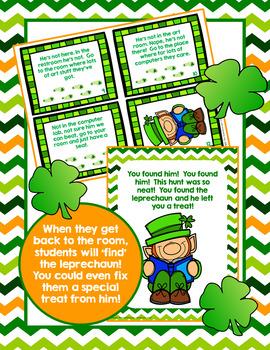 St. Patrick's Day Leprechaun Hunt Fun Activity