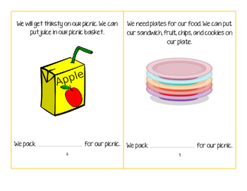 Let's Go on a Picnic-Interactive/Adapted Book
