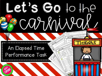 Let's Go to the Carnival Elapsed Time Performance Task (w/ Engaging Powerpoint)