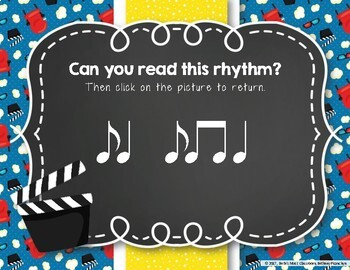 Let's Go to the Movies! Interactive Rhythm Practice Game - Syncopa