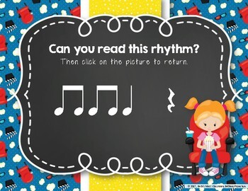 Let's Go to the Movies! Interactive Rhythm Practice Game - Ta Rest