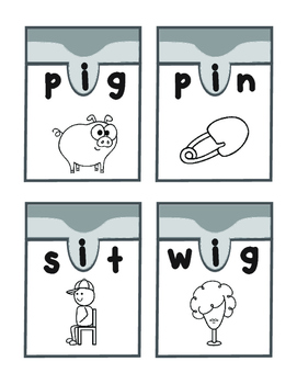 Let´s Have Fun with Cvc Words Vowel Match Ups. I vowel
