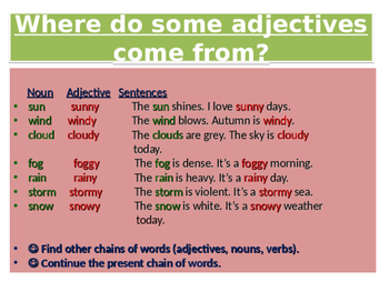 Let's Have Fun with the Adjectives