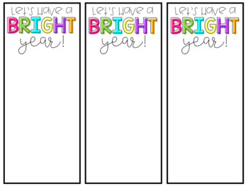 Let's Have a Bright Year Tag!