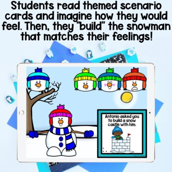 Let's Have a FEELINGS Snowball Fight! Feelings Identification Scenarios Game!