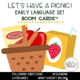 Let's Have a Picnic Early Language Boom Cards™ Task Cards