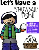 Let's Have a Snowball Fight 2ND GRADE MATH edition