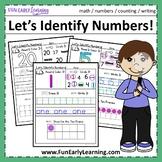 Let's Identify Numbers! 0-20 No Prep Worksheets
