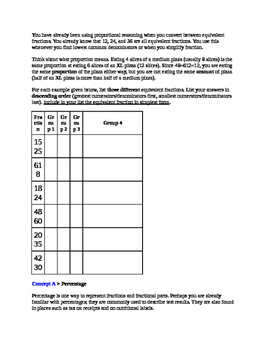 Let's Inquire about Proportional Reasoning Lesson: