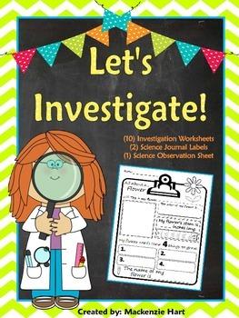 Let's Investigate: 10 Investigation Worksheets