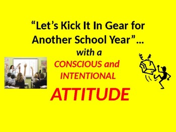 Let's Kick It Into Gear for Another School Year
