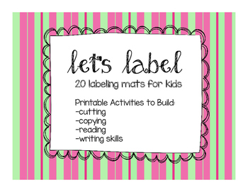 Let's Label 20 Labeling Mats for the Primary Classroom, Literacy Centres
