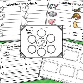 Let's Label, Draw, and Write BUNDLE