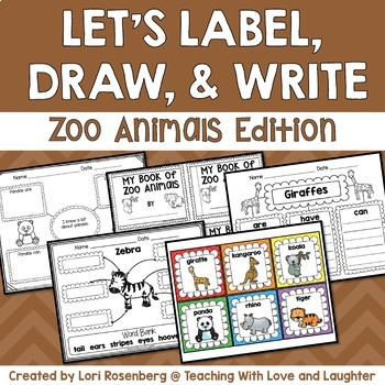 Let's Label, Draw, and Write About...Zoo Animals
