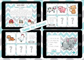Let's Learn About Animals (Free Version)- NO PRINT interactive books and games