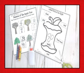 Let's Learn About Apples and Johnny Appleseed September Activities