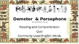 Let's Learn About Greek Myths- Demeter and Persephone (Four Seasons)