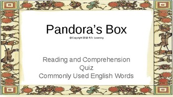 Let's Learn About Greek Myths- Pandora's Box