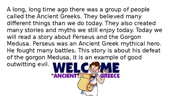 Let's Learn About Greek Myths- Perseus and Medusa