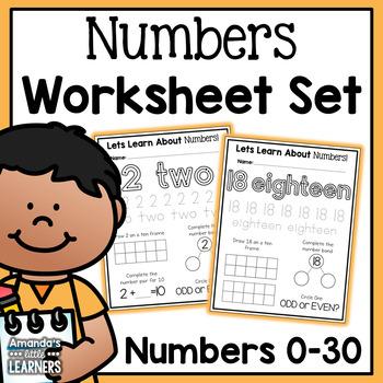 Number Worksheets 0-30