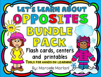 Let's Learn About OPPOSITES- ACTIVITIES, GAMES, AND MORE!- BUNDLE PACK