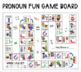 Let's Learn About Pronouns Game Board FREEBIE