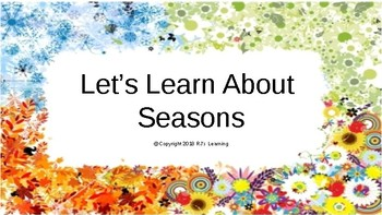 Let's Learn About Seasons
