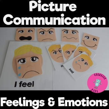 Let's Learn Feelings Bundle with interchangable faces Great for Autism Classes!