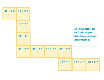Let;s Learn How to Add Larger Numbers without Regrouping