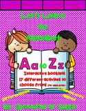 Let's Learn Letters A-Z- Interactive Acivities Booklets Bundle