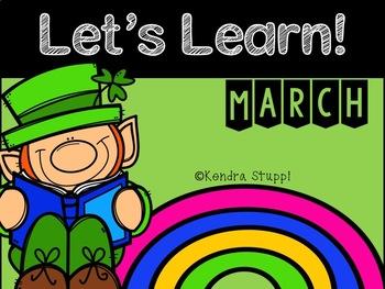 Let's Learn March! {Kindergarten}