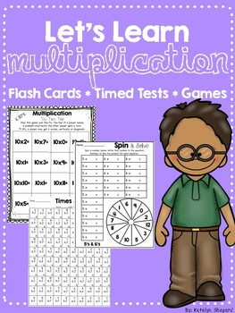 Let's Learn Multiplication! No Prep Activities to Build Fact Fluency