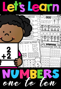 Let's Learn Numbers 1-10 No Prep Printables BUNDLE in NSW Foundation Font