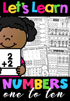 Let's Learn Numbers 1-10 No Prep Printables BUNDLE in Victorian Cursive Font