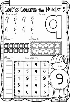 Let\'s Learn Numbers 1 to 10 worksheets in NSW Foundation Font for ...