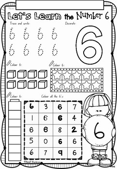 Let's Learn Numbers 1 to 10 worksheets in NSW Foundation Font for Kindergarten