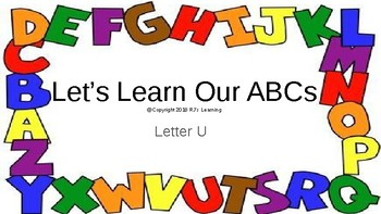 Let's Learn Our ABCs L24-31 U-Z