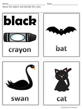 """Let's Learn Our Colors """"Color Objects"""" (Worksheets or Flashcards)"""