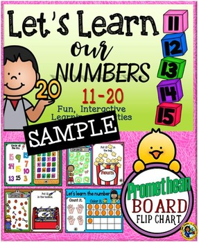 Let's Learn Our Numbers 11-20 {Promethean Board Flip Chart} SAMPLE