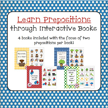 Let's Learn Prepositions - Interactive Books