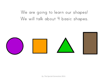 Let's Learn Shapes: An Adapted Book