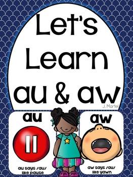 Let's Learn Au & Aw ( a phonics unit)