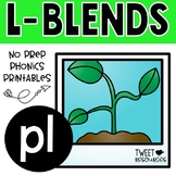 "Let's Learn The Blend ""pl"" Victorian Modern Cursive Font Edition"
